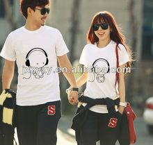 2013Hot! Korea fashion cute couple t-shirt wholesale