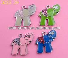 Newest zinc alloy pendants and charms- elephant,Elephant shaped pendant,Painting elephant pendant