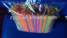China U-shape drinking foil cutter telescopic straws