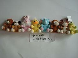 10cm promotional lovely soft plush stuffed easter bear,dog,rabbit,duck,elephant,monkey,cow,frog animal toy