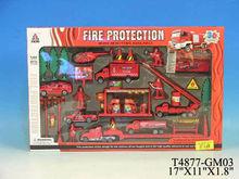 3D die-cast metal toy fire truck
