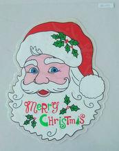 hot sale !2013 new design christmas santa claus window sticker decoration
