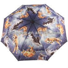 print it's rain cats and dogs umbrella for rain