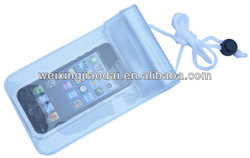 transparant PVC waterproof bag with drawstring 10*18cm