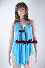 transparent blue babydoll charming design for hot sexy ladies sleepwear