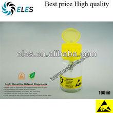 antistatic glass alcohol bottle