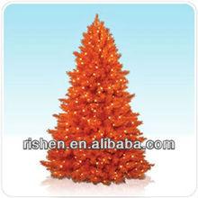 2013 new orange fashion christmas tree with LED lights
