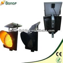 300mm LED Yellow Flashing Solar led traffic signal lights