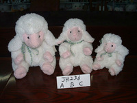 high quality customized promotional lovely soft plush stuffed easter white sheep,lamb,goat animal toy with silk bowtie