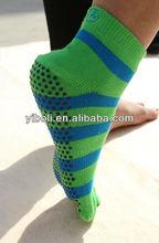 Yoga socks hot sale style stripe socks balance toe socks sports stocking