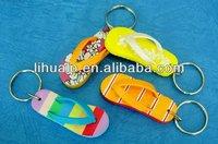 promotional 3D logo slipper shoe key chain