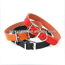 real Leather dog collar, PU pet collar, pet supply