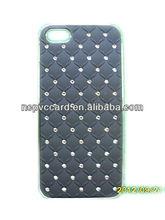 Balck Leather Diamonds Mobile Phone Case