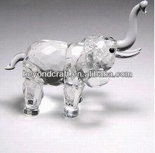 clear crystal elephant model ,crys ornaments