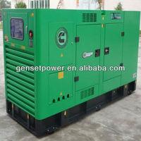 Shopping Mall Electric Power Generator 100 kva Silent Casing