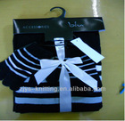 ladies winter fashion knitted scarf,hat & glove set