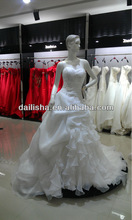 Vintage sweetheart neck line ivory multi-level long tail 2013 wedding dress and evening dress N040