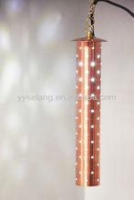 Copper hanging pendant illumine lighting