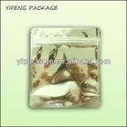 Food Grade Silver Plastic Foil Bag/Silver Packaging Bag/Stand Up Aluminum Foil Bag With Zipper