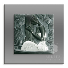 Hot sale modern African woman 3d relief paintings