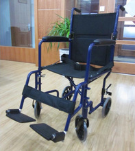 Portable Steel Wheelchair with swing away footrest