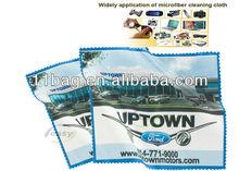 Custom microfiber lens cloth with card