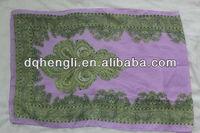Printed silk scarf custom