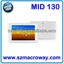"MID130: 10"" A10 1G/8G/16G Bluetooth, Wifi, 3G, Webcams, Multi Touch, HDMI, G Sensor, Camera best 10 inch cheap tablet pc"