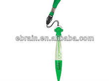 Swanky Bubble Blowing Pen,plastic pen with lanyard
