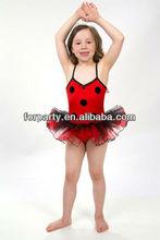 Pc-0538 adorável ballet tutu vestido joaninha ballet tutu vestido