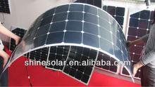 semi-flexible solar panel use on yacht, car, boat, snow mobile, golf-cart.