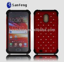 Luxury full bling diamond cases with stars design for Samsung D710 EPIC 4g Touch