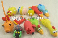 Various cute latex pet toy dog pet