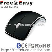 Arc folding wireless bluetooth mouse