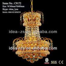 chinese style decoration hotal or bed room used crystal chandelier
