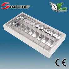 Louver fixture ceiling double tube light fitting flourescent light fixture t8
