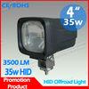 12V 35W heavy duty HID xenon work light for mining trucks crane dozer