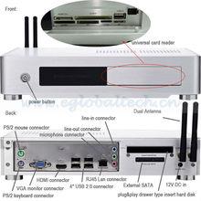 V3-N800G Fanless HTPC Case, Economic Personal Computer, Mini Desktop Computer G530
