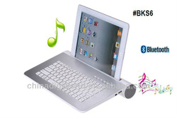 bluetooth keyboard for ipad and tablet with bluetooth speaker