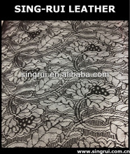 pu synthetic leather,shining fabric lace,fabric with lace,organza