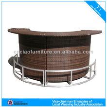 HM-rattan outdoor furniture wooden bar stool CF661T