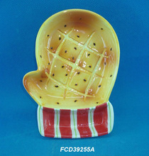 FCD39255A Latest hot sale bread finishing ceramic chip and dip tray