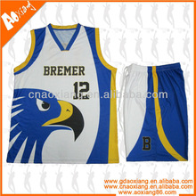 sublimated mens basketball clothing