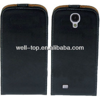 for Samsung i9500 Galaxy S4 Leather Protector Case Cover Flip Case Black