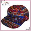 New Fashion Floral Print Flat Brim Snapback Hat