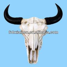 Buffalo skull resin wall animal head sculpture