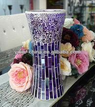 30CM Purple Mosaic Glass Vase