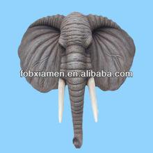 Life-size elephant anitique wall head sculpture