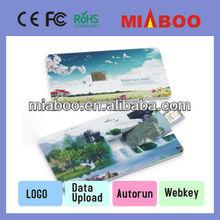 Bespoke plastic USB card, super high definition logo imprint business usb business/credit card usb