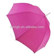 hot pink diamante straight umbrella for ladies
